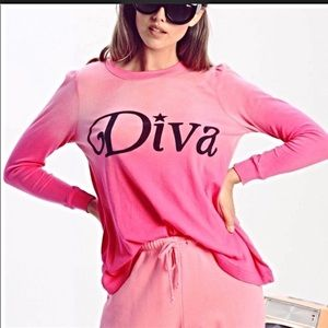 WILDFOX DIVA PRINCESS SHIRT LARGE